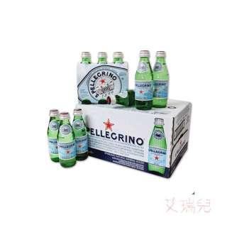 San Pellegrino 聖沛黎洛 天然氣泡水 250毫升 X 24瓶(玻璃瓶裝)