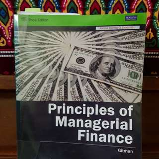 Principles of Managerial Finance 13th ed (BA 141 and 142) Gitman
