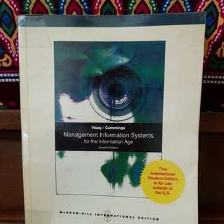 Management Information Systems for the Information Age 7th ed (BA 186) Haag; Cummings