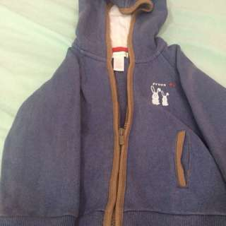 Blue hoodjacket fits to 1yr old