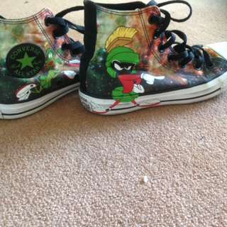 Marvin the Martian Converse Sneakers