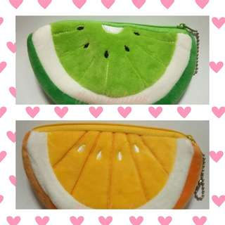 ❤️VDAY PROMO❤️Fruit coin purse/pouch/wallet🍉🍊🍓🍍