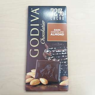 Godiva 72% Almond Dark Chocolate 杏仁黑朱古力 chocolatier