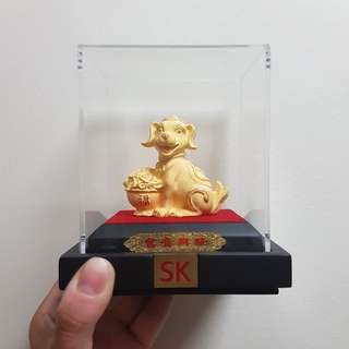 SK Gold Plated Dog Ornament
