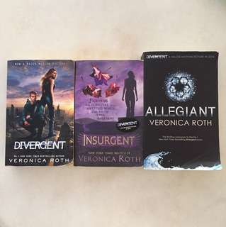 Divergent, Insurgent and Allegiant by Veronica Roth