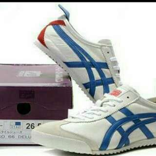 ready stock asics onitsuka tiger, black White red //