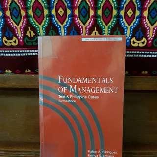 Fundamentals of Management 6th ed (BA 101) Rodriguez; Echanis