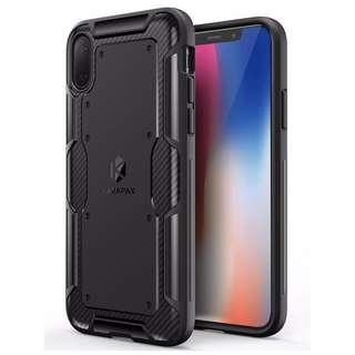 Anker iPhone X Shell - Carbon Fibre Back Plate TPU Case - Black 電話殼 包運費