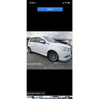 Chevrolet Aveo Hatchback 1.4 Manual 5dr