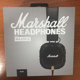 Marshall Major 2 Headphones With Mic BNIB