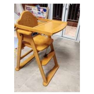 Anpanman Hardwood Fancy High Chair