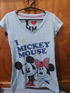 Mickey mouse fitted shirt