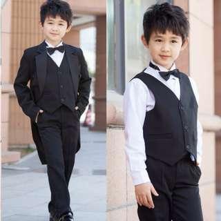 [Mix&Match:2@$119+FREE gift] JAXSON Formal Wear for Boys/ Suit/ Wedding/ Tuxedo/ Kids/ Children/ Dress Suit/ Black/ White [Y9800SC4990SD2180]