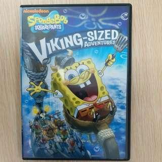 搬屋清櫃! Spongebob Square pants viking-sized adventures dvd ~兒童益智dvd 教材,現售$50/隻,超值! 可whatapps相片提供。只限荃灣MTR/荃灣西站至屯門站, 現金交收。或代寄順豐到付。謝
