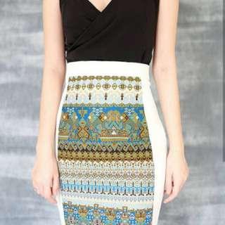 Athen top & Leila skirt (satu set)