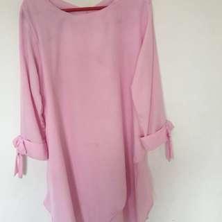 Blouse pink murah