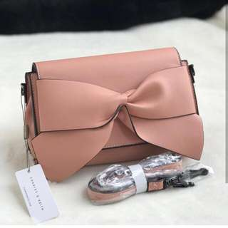 Original CHARLES & KEITH Clucth bow
