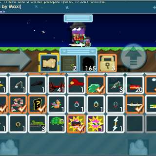 Growtopia Account with f eyes,zeus bolt and four rings,also level 64 and has party fowl,left behind a cosmic cape,m scarf and some stuff