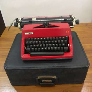 Vintage Typewriter Olympia Made in Germany