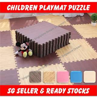 Children Playmat Baby Play Mat / Kids EVA Exercise Foam Mats With Interlocking Tiles / Waterproof Anti Slip Non Toxic