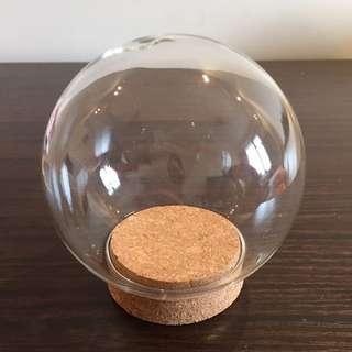 玻璃球 水晶球 連木塞 永生花材料 glass ball