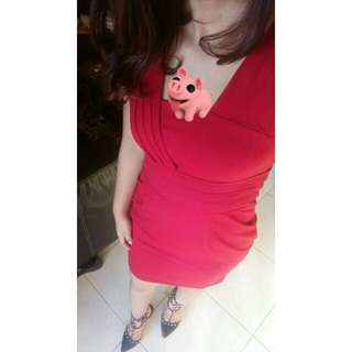 Red dress fit to S-M
