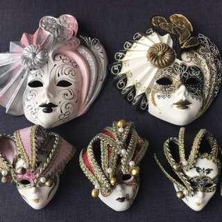 Genuine Venetian Masks for Sale