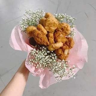Fresh Nugget & Flower Bouquet
