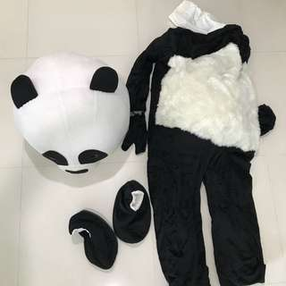 Panda Costume Mascot Suit Cosplay Dress Adult Men Women (only one time used )