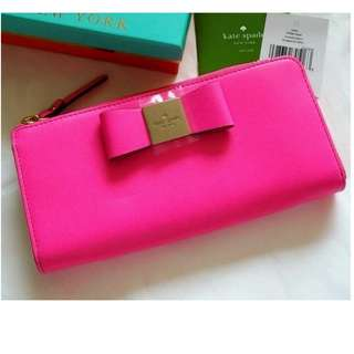 Kate Spade Veranda Place Nisha Wallet PWRU3646 (Color: bright pink)