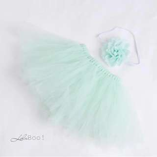Baby Tutu Skirt Set - Mint