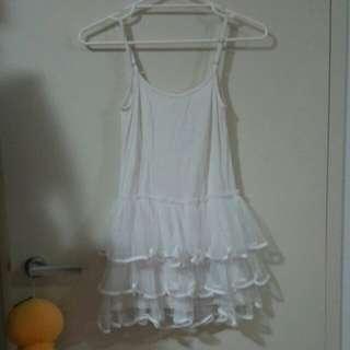 white singlet lace dress
