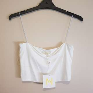Meshki White Crop Top