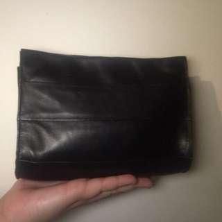 A-esque Black leather bag