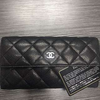 Chanel classic wsllet牛皮 98%新