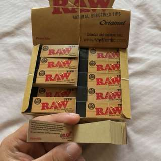 Raw Natural Unrefined Tips 17mm