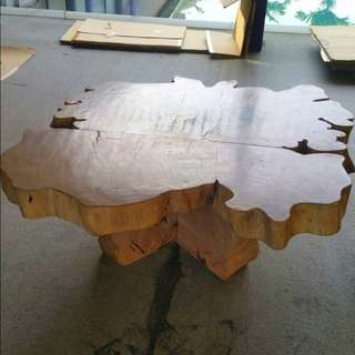 Natural wood Coffee Table. Tree trunk.