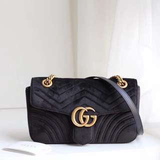 Gucci Marmont small velvet black Mirror preorder