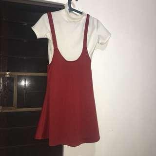 Jumper Dress Burnt Orange