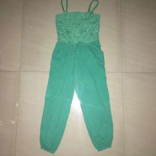 Periwinkle Mint Green Jumpsuit