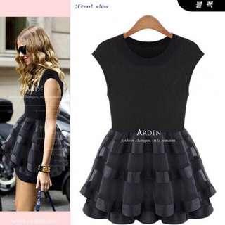 Cotton + Organza Layer Short Dress Top