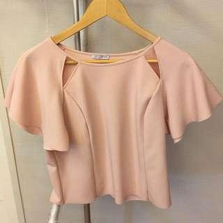 Zara shirt blush
