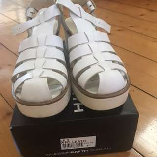 Windsor smith white sandals
