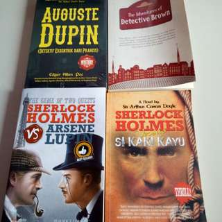 Aneka novel detective: holmes, brown, dupin