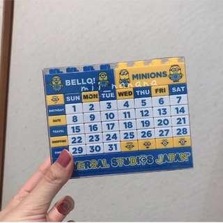 日本USJ  MINION 現貨 ✨ MINION 萬年曆
