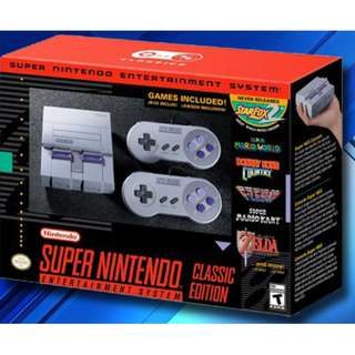 BRAND NEW Super Nintendo Entertainment System Classic Edition SNES Gaming Game Console GAMES INCLUDED Mario Zelda Donkey Kong And Lots MORE