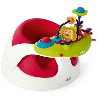 Mamas & Papas Baby Snug Floor Seat & Activity Tray - Red