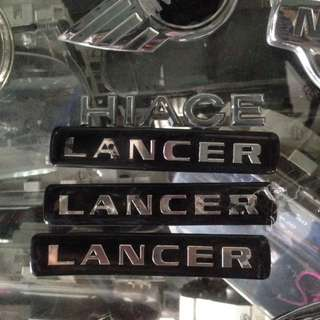 emblem lancer and hiace