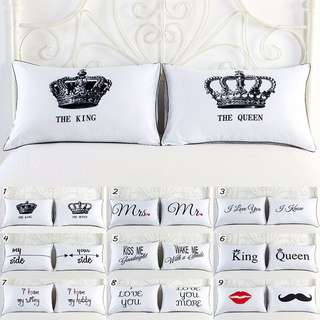 Bed Cushion Pillow Couple Set