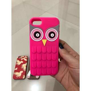 Case for iphone 5 - Pink Owl